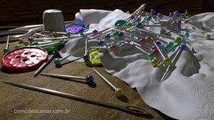Como descartar agulha de costura e alfinete