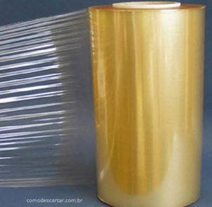 Rolo de filme plástico, como descartar filme plástico