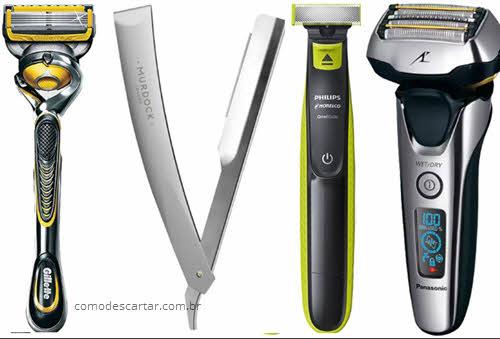 Como descartar aparelho de barbear e lâminas