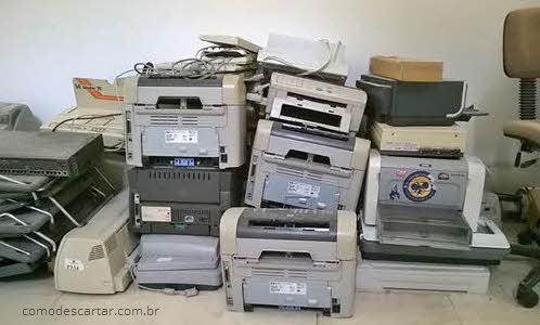 Como descartar impressora