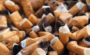 Como descartar bituca de cigarro