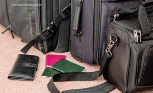 Como descartar passaporte, mala, carteira