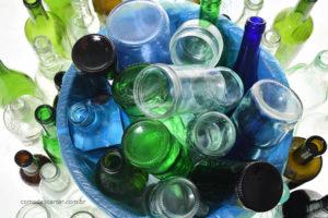 Como descartar pote de vidro
