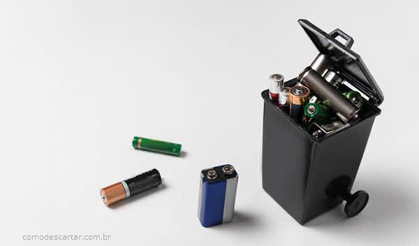 Como descartar carregador de pilhas e baterias carregáveis
