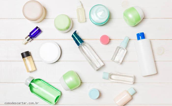 Como descartar embalagens de maquiagem vazias